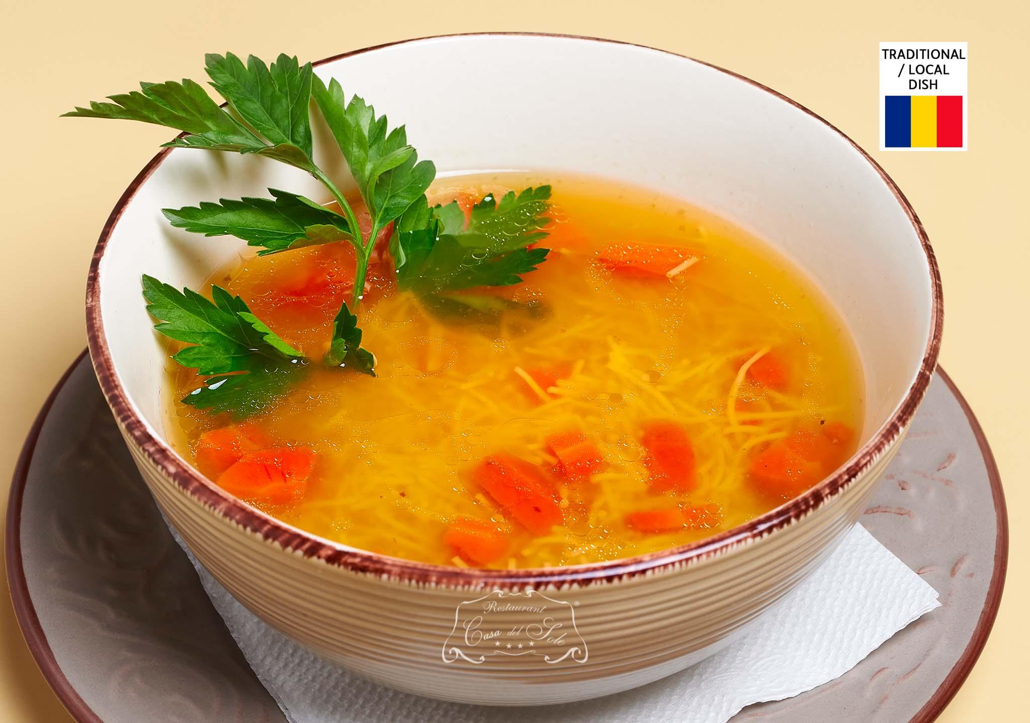 Livram la domiciliu Supa de vita cu taietei in Timisoara