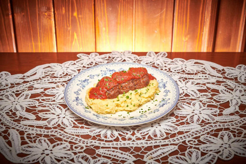 Chiftelute marinate cu piure de cartofi 1.4 kg livram acasa ori la birou in Timisoara
