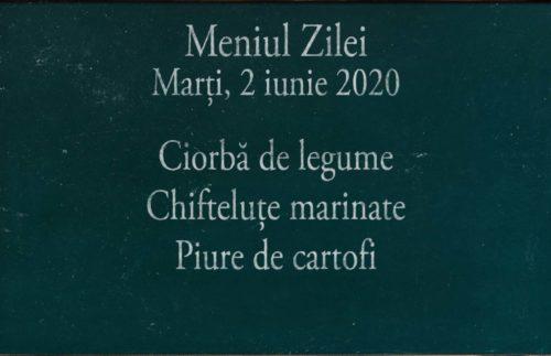 Meniul Zilei la domiciliu in Timisoara 2 iunie 2020