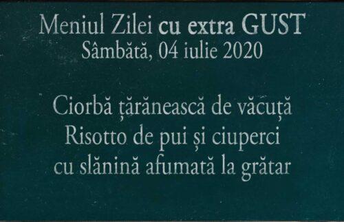 Meniul Zilei la domiciliu in Timisoara 04 iulie 2020