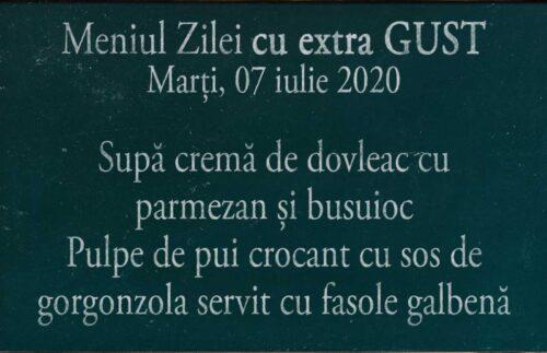Meniul Zilei la domiciliu in Timisoara 07 iulie 2020