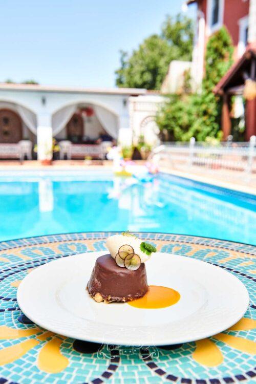 Casa del Sole Timisoara - Cheesecake de ciocolată albă, mousse de lime și praline de migdale